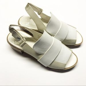 Shellys London Neutral Slingback Peeptoe Sandals